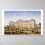Buckingham Palace, c.1862 (litho del color) Póster