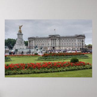 Buckingham Palace en Londres Inglaterra Poster