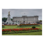 Buckingham Palace en Londres Inglaterra Póster