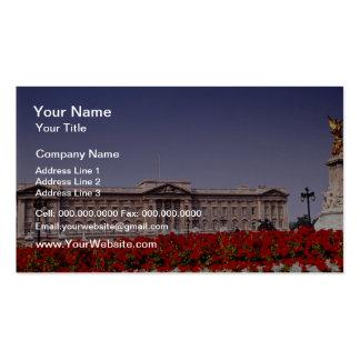 Buckingham Palace London England flowers Business Card Templates