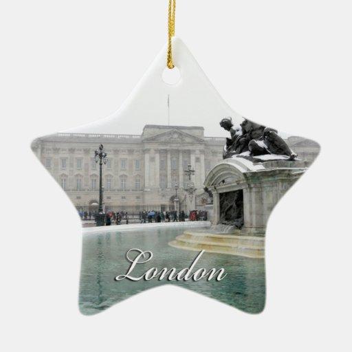 Buckingham Palace London England Christmas Tree Ornaments