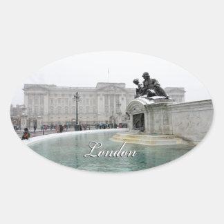 Buckingham Palace London England Oval Sticker