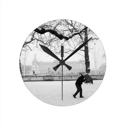 Buckingham Palace London England Round Clocks