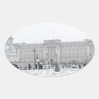 Buckingham Palace London Oval Sticker