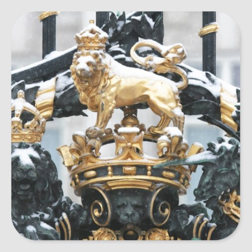 Buckingham Palace London Square Sticker