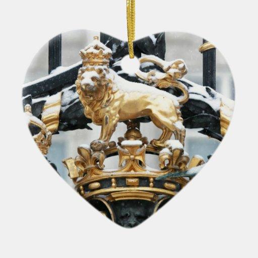 Buckingham Palace Londres Adorno Navideño De Cerámica En Forma De Corazón