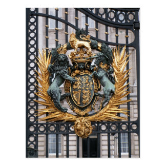 Buckingham Palace Londres Inglaterra del escudo Tarjeta Postal