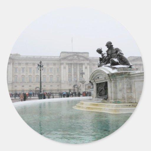 Buckingham Palace Londres Pegatina Redonda