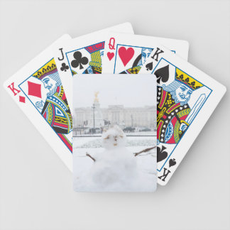 Buckingham Palace snowman London Bicycle Playing Cards