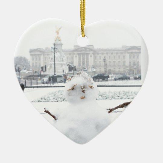 Buckingham Palace snowman London Ceramic Ornament