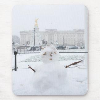 Buckingham Palace snowman London Mouse Mats