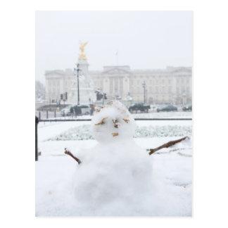 Buckingham Palace snowman London Postcard