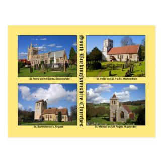 Buckinghamshire Churches Postcard