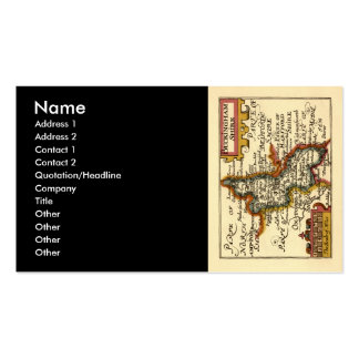 Buckinghamshire County Map, England Double-Sided Standard Business Cards (Pack Of 100)