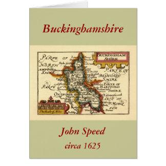 Buckinghamshire County Map, England Card