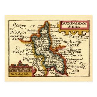 Buckinghamshire County Map England Postcards