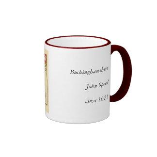 Buckinghamshire County Map, England Ringer Mug