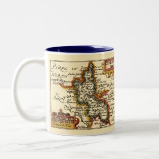 Buckinghamshire County Map, England Two-Tone Coffee Mug