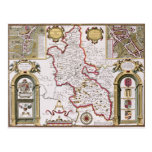 Buckinghamshire, engraved by Jodocus Postcard