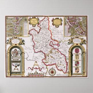 Buckinghamshire, engraved by Jodocus Print