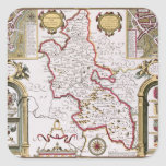 Buckinghamshire, engraved by Jodocus Square Sticker