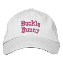 Buckle Bunny ~ Rodeo Embroidered Baseball Hat