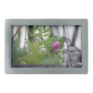 BUCKLE Flowers by the Lake - Pink Rectangular Belt Buckle