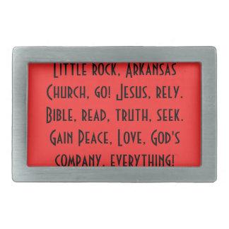 Buckle/Little rock, Ark, be christian! Belt Buckle