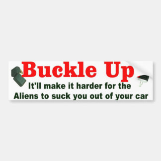 buckle up car bumper sticker