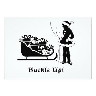 Buckle Up Christmas Party Invite