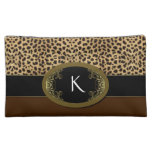 Buckle Up Leopard Cosmetic Bags