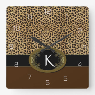 Buckle Up Leopard Square Wall Clock