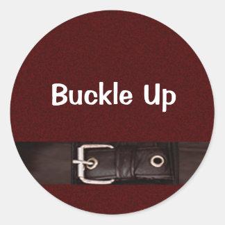 Buckle Up Mates Classic Round Sticker