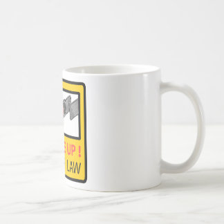 Buckle Up Sign Vector Sketch Coffee Mug