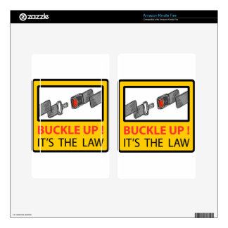 Buckle Up Sign Vector Sketch Decal For Kindle Fire