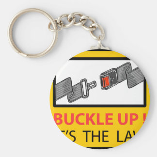 Buckle Up Sign Vector Sketch Keychain