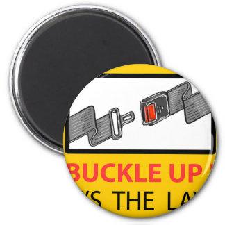 Buckle Up Sign Vector Sketch Magnet
