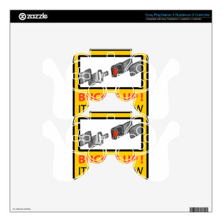 Buckle Up Sign Vector Sketch Skin For PS3 Controller
