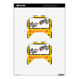 Buckle Up Sign Vector Sketch Xbox 360 Controller Decal