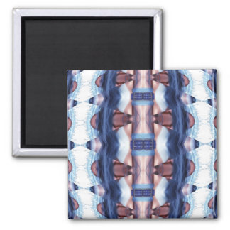 Buckled in Blue 2 Inch Square Magnet