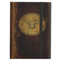 Buckled Leather Steer iPad Air Case