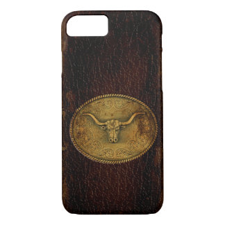 Buckled Leather Steer iPhone 7 Case