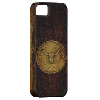 Buckled Leather Steer iPhone SE/5/5s Case