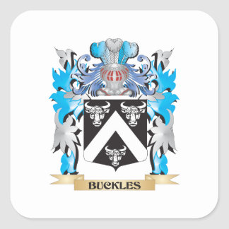 Buckles Coat of Arms Square Stickers