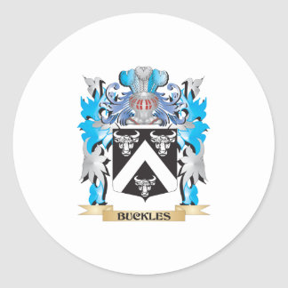 Buckles Coat of Arms Round Stickers
