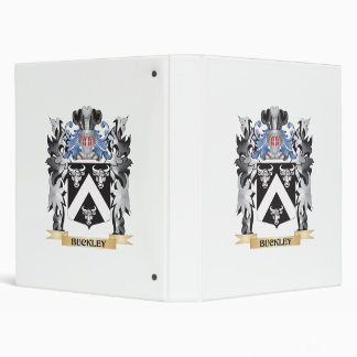 Buckley Coat of Arms - Family Crest 3 Ring Binder