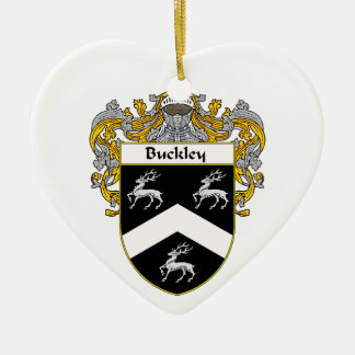 Buckley Coat of Arms/Family Crest Ceramic Ornament
