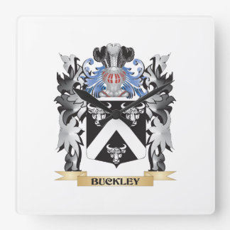 Buckley Coat of Arms - Family Crest Square Wallclocks