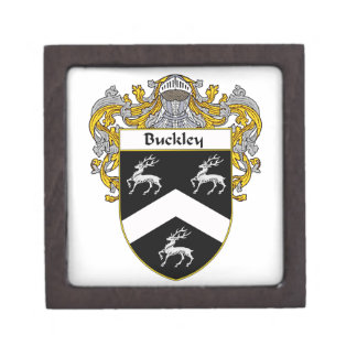 Buckley Coat of Arms/Family Crest Jewelry Box