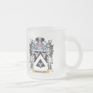 Buckley Coat of Arms - Family Crest 10 Oz Frosted Glass Coffee Mug